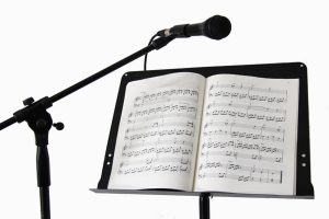 Mic stands, music stands, instrument stands