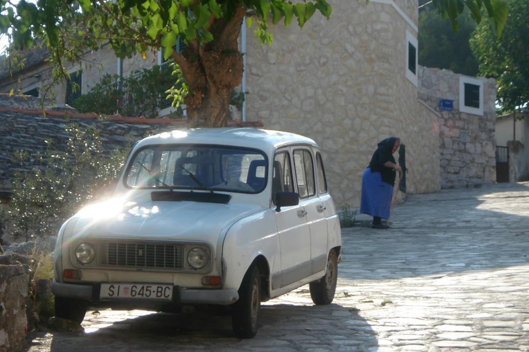 Trabant and Old Lady, Croatia